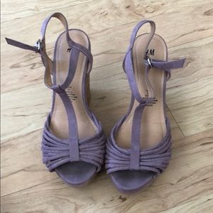Purple H&M suede wedges